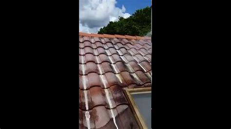50 psi chemical tile roof cleaning spray demonstration palm beach county youtube