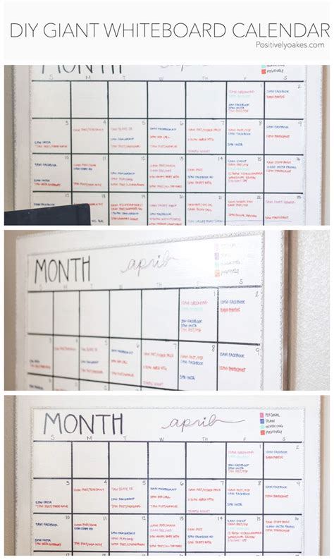 how to make a calendar on your whiteboard 25 best ideas about diy whiteboard on