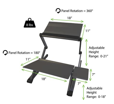 affordable sit stand desk workez standing desk conversion kit