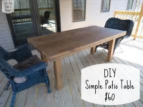 Table For Patio Let S Just Build A House Diy Simple Patio Table Details
