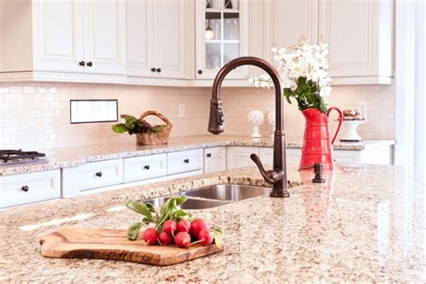 Giallo Ornamental granite countertops add elegance in the