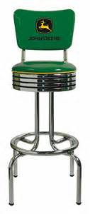 deere green swivel bar stool with back