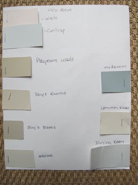 great way to plan the color scheme of a home and ensuring that all of the colors complement each