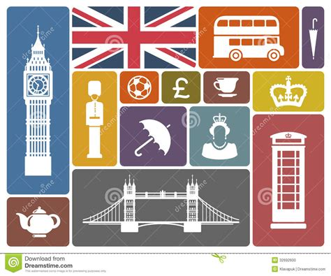 icons of england icons on a theme of england stock photo image 32692600