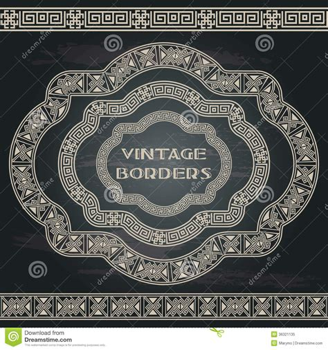 grunge design elements vector ethnic greece design elements royalty free stock photo