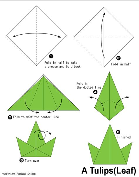 Origami For Kid - tulips2 easy origami for
