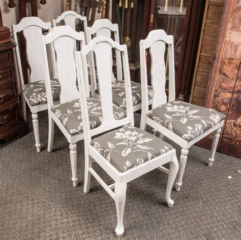 shabby chic dining room chairs 6 the k and b auction