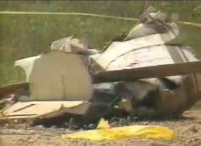 Close up of the helicopter s wreckage
