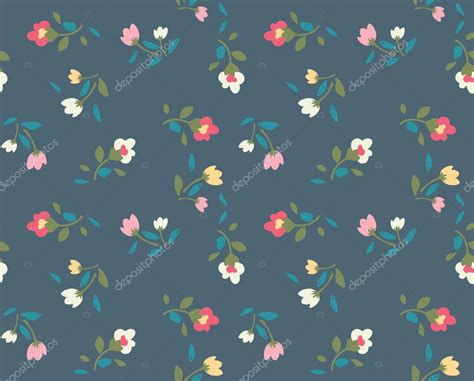 cute vintage pattern background spring cute vintage rose pattern background stock vector
