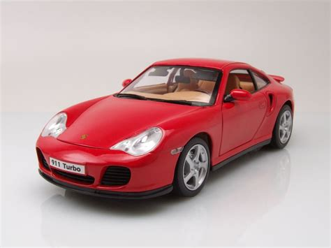 Modellauto Porsche by Porsche 911 996 Turbo Rot Modellauto 1 18 Welly 32 95