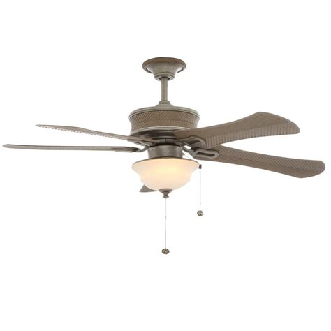Hton Bay Outdoor Ceiling Fans With Lights Hton Bay Algiers 54 In Indoor Outdoor Cambridge Silver Ceiling Fan With Light Kit 56139