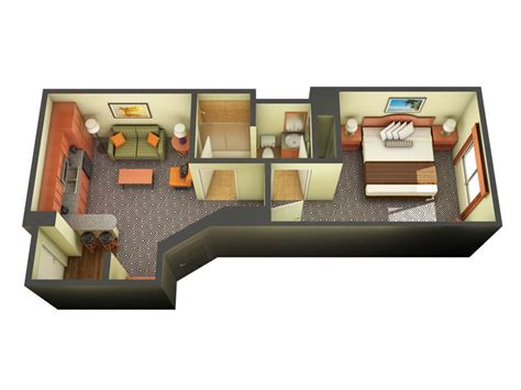 Floorplan Maker one bedroom suite las vegas moorea tahiti village