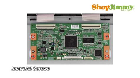 samsung t con board samsung tv repair how to replace t con board in lj94 02 705e model how to fix lcd tvs
