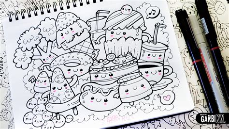 doodle drawing inspiration kawaii food hello doodles easy and kawaii drawings by