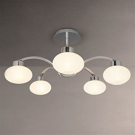 5 Light Ceiling Light by Buy Lewis Roma 5 Light Semi Flush Ceiling Light Chrome White Lewis