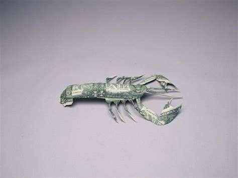 Origami Lobster - money origami lobster money dollar origami