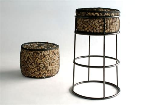 Wine Cork Bar Stools by After Corkage Bar Stool Ottoman Barstools