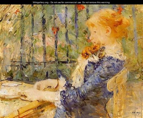 Berthe Morisot In The Dining Room Tea Berthe Morisot Wikigallery Org The Largest