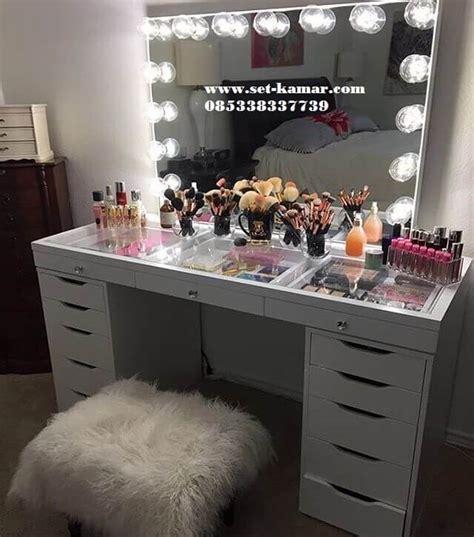 meja rias lu meja make up minimalis wrna putih murah