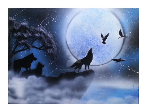 spray paint wolf howling wolf spray paint painting by zaharenyce on deviantart