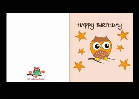 free printable birthday card templates free printable birthday cards for template