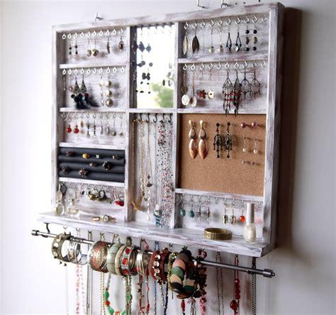 Jewelry Shelf Organizer by Jewelry Holder Large Earrings Display Shelf White Jewelry
