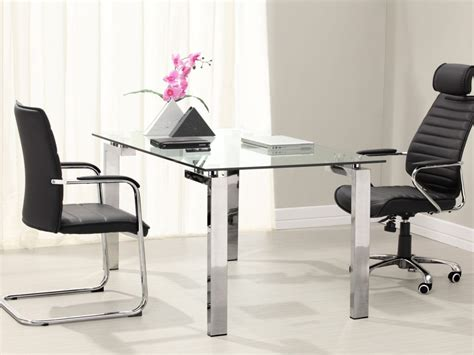 glass office furniture desk modern glass office desk www pixshark com images