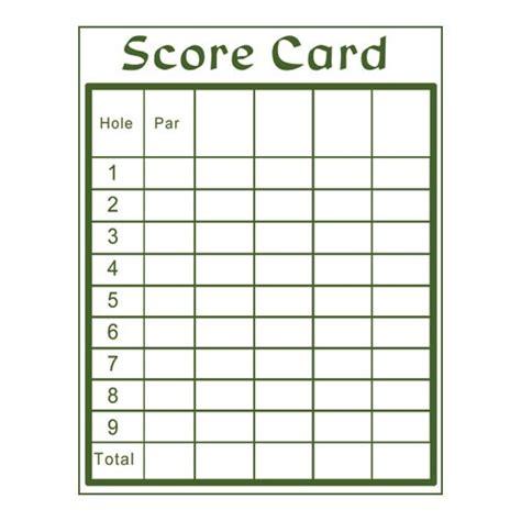 Mg 009 Score Cards Custom Golf Scorecard Template