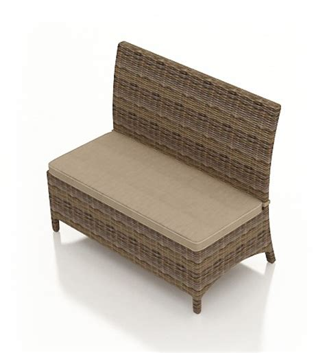 wicker patio bench forever patio cypress wicker dining loveseat bench