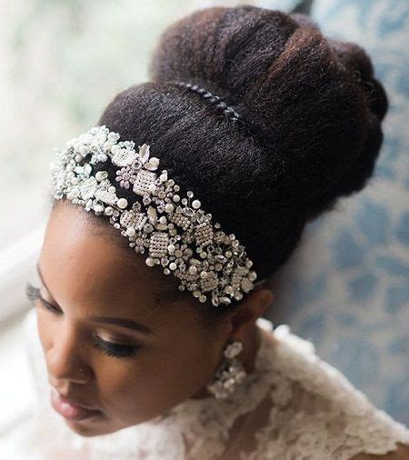 afro hairstyles for brides afro puff with headband google search hair styles