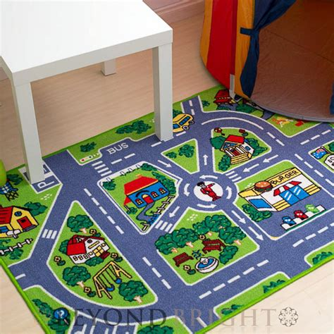 play rugs with roads city 80x125cm baby interactive road playmat mat activity rug educati ebay