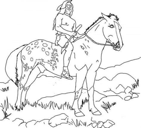 coloring pages native america indian horse coloring page