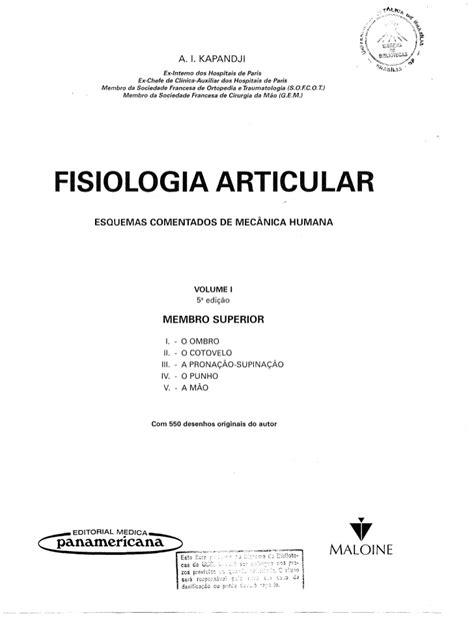 Fisiologia Articular Volume 1