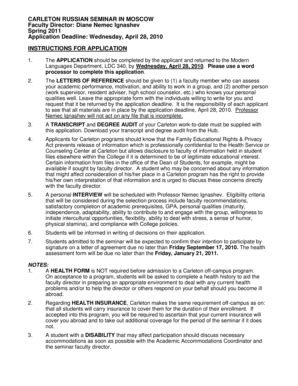 Carleton Acceptance Letter Carleton Russian Seminar In Moscow Order Letters Format Letter Sle