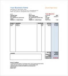 Sales Invoice Template Excel by Sales Invoice Template Free Word Excel Pdf