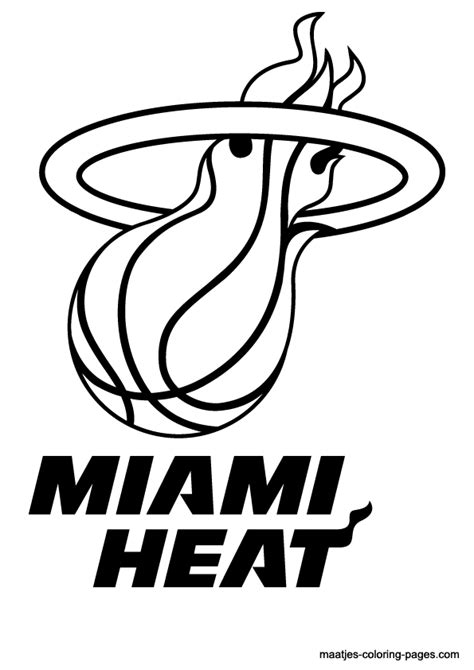 nba miami heat logo coloring pages