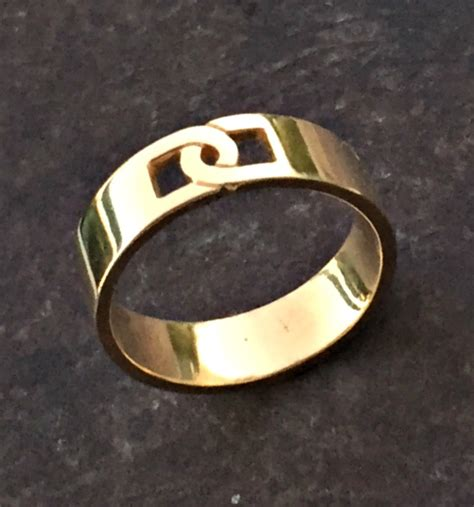 gold band gold ring mens wedding band mens engagement
