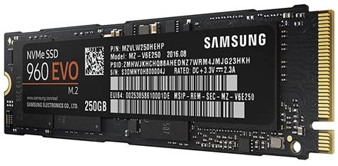 Samsung 960 Evo Nvme M 2 Ssd 250gb best nvme m 2 ssd for gaming pc and laptops in 2018 pcie ssd