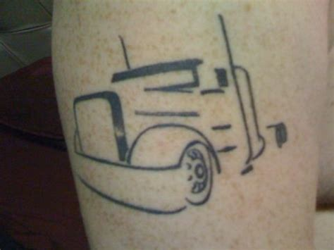 trucker tattoos big rig outline tattoos piercings
