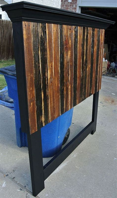 pallet headboard for queen bed pallet headboard made to fit a full and queen size bed