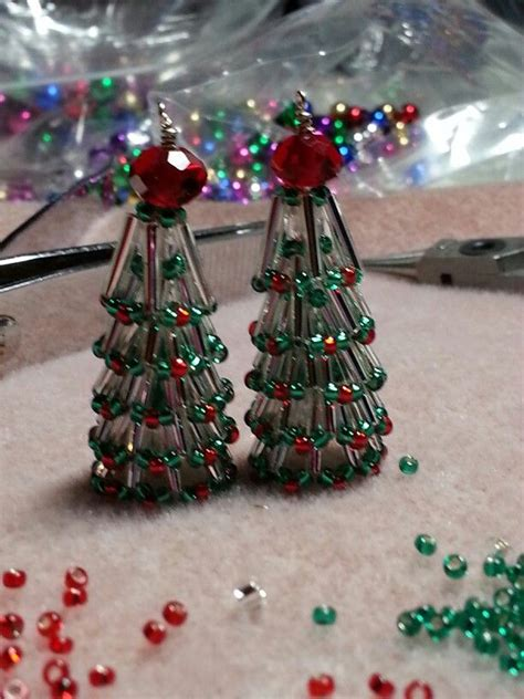 christmas tree seed beads bugles christmas