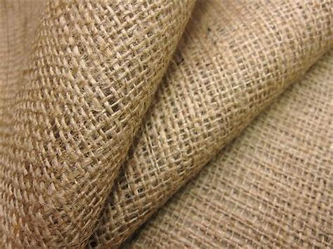 50 mt roll of natural hessian jute sack fabric 40w upholstery or garden use