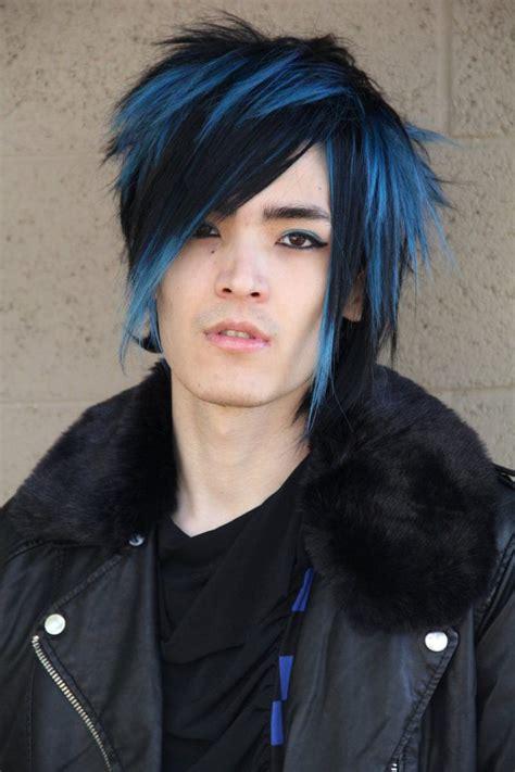 imagenes de peinados emo hombres cortes de pelo y peinados emo 50 fotos cabello color azul