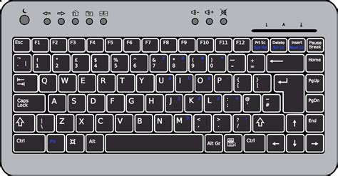 printable version of a computer keyboard laptop keyboard clipart clipartxtras