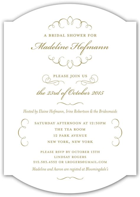 kleinfeld bridal shower invitations letter calligraphy wedding shower invitation