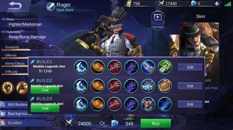 mobile legend tips roger guide tips and builds 2019 mobile legends