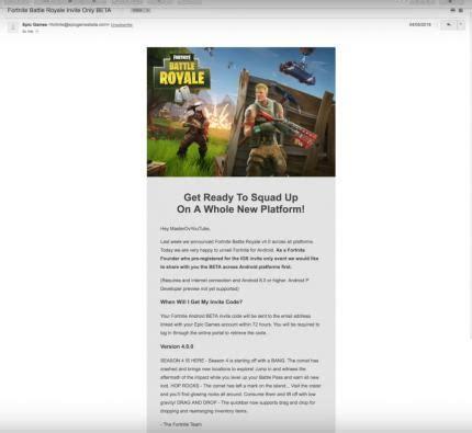 fortnite android beta fortnite battle royale invite only beta epic warnt