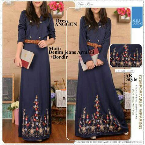 Longdress Zaraa Baju Wanita Bagus Murah baju dress muslim denim anggun terbaru murah