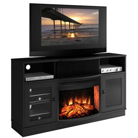 black electric fireplace entertainment center paxton 25 quot electric fireplace entertainment center in
