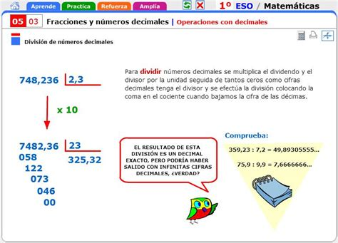 operaciones con decimales matem 225 ticas para 1 186 de secundaria didactalia material educativo